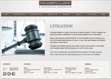 Nugen Law Litigation