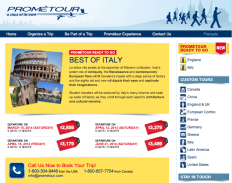 Prometour Themed trips Italy Open Tour